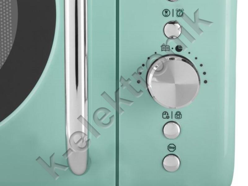 Silvercrest Retro Mikrohullámú sütő (zöld)